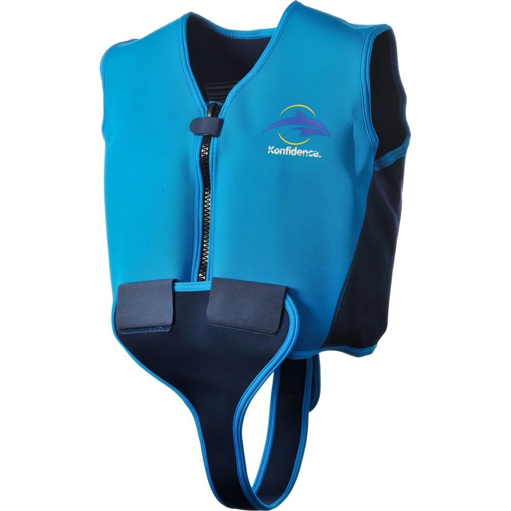 Svømmevest til barn Blå, størrelse 8-10 år, Konfidence neopren